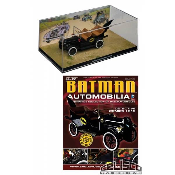 Batman Automobilia Magazine with 1/43 Diecast Model 26 Batmobile (Detective Comics 219)