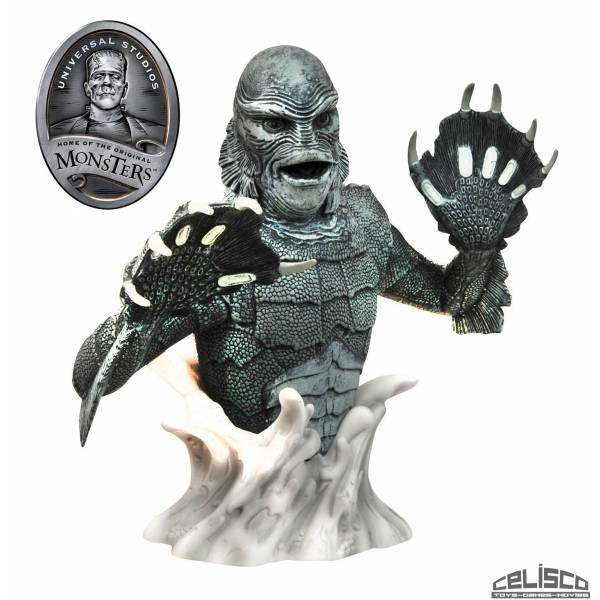 Universal Monsters Bust Bank Creature from the Black Lagoon Black & White 20 cm