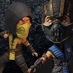 Mezco Toyz - Mortal Kombat X Bobble-Heads Sub Zero Scorpion